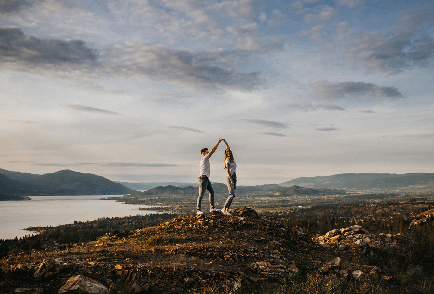 Kelowna Mountain Top Engagement Session