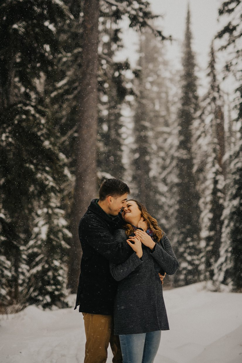 Snowy Engagement session at Big White