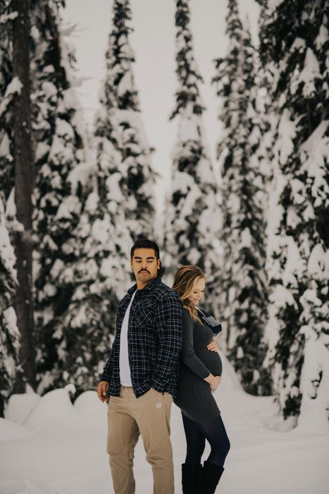 Winter Maternity Session at Big White