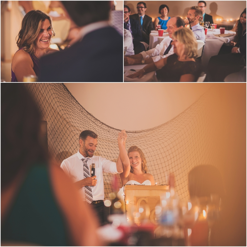 Bride and Groom Speech during Wedding Reception