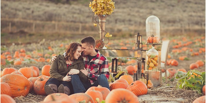 Isaiah & Kaleigh | Pumpkin Patch Engagement