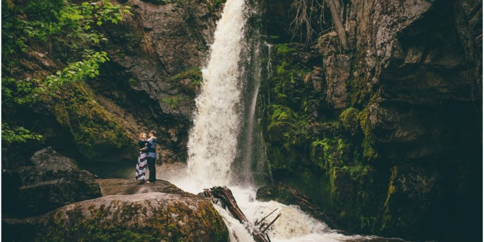 Crawford Falls Kelowna | Waterfall Engagement