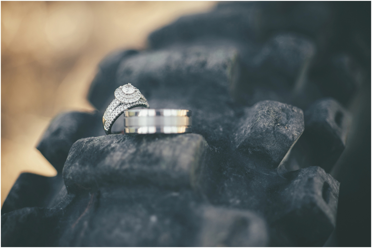 Engagement Ring On Dirtbike Tire