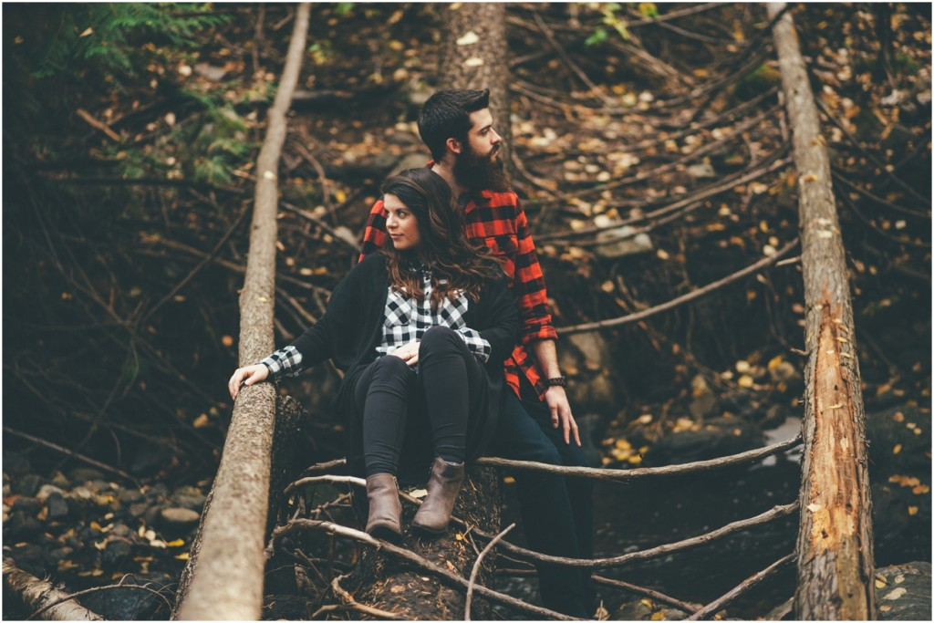 Adventurous engagement session in Kelowna