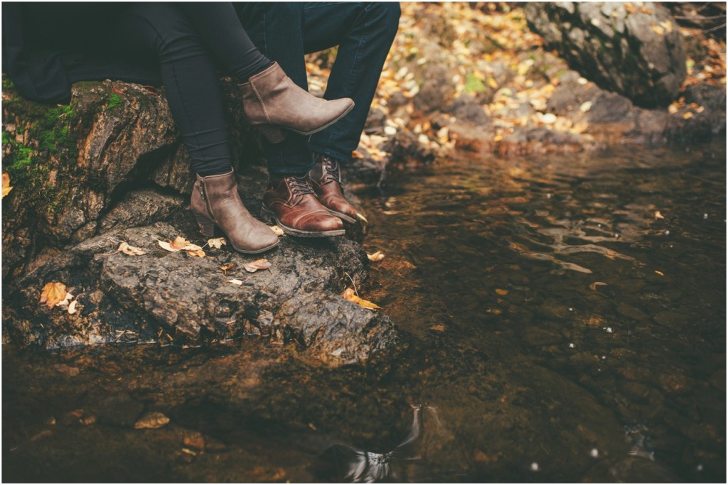 Stylish fashion for engagement session