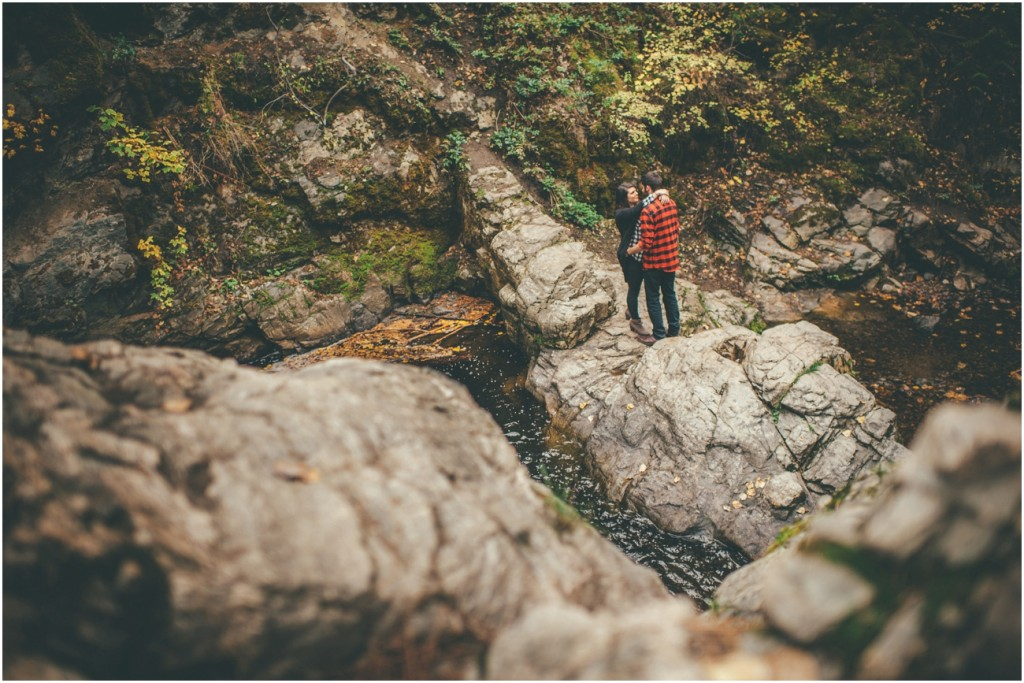 Okanagan Waterfall Engagement Shoot