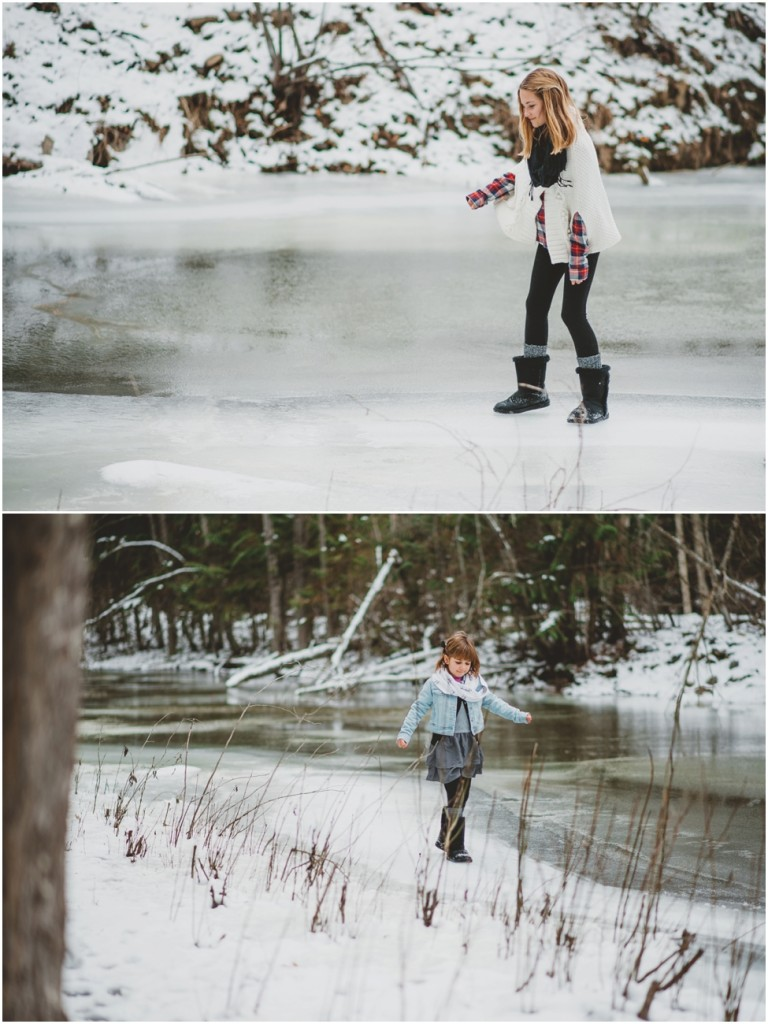 Winter family portraits in Kelowna
