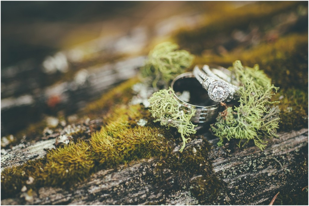 Stunning Wedding Rings in Moss