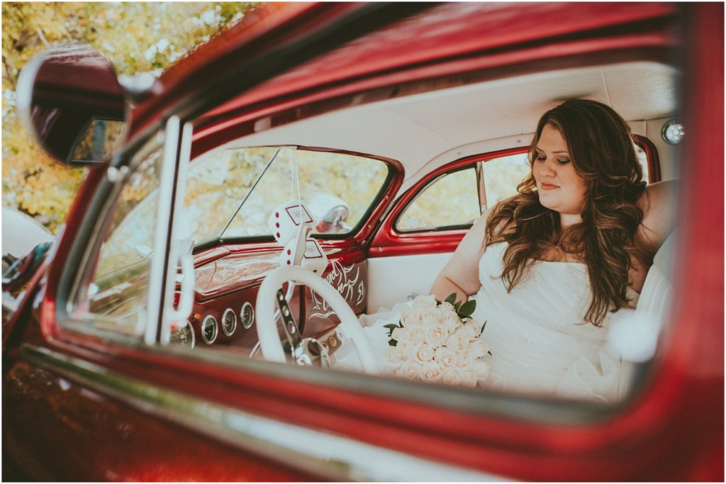 Beautiful Bride in Vintage Car - Mercury