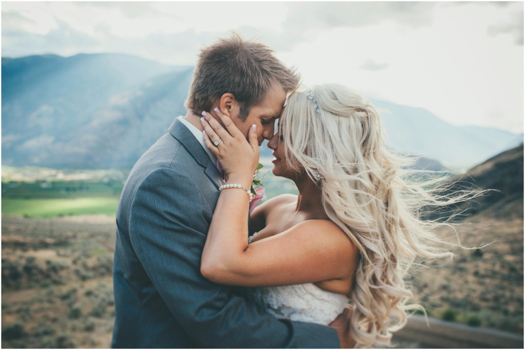 Beautiful Bride and Groom surrounded by Mountains