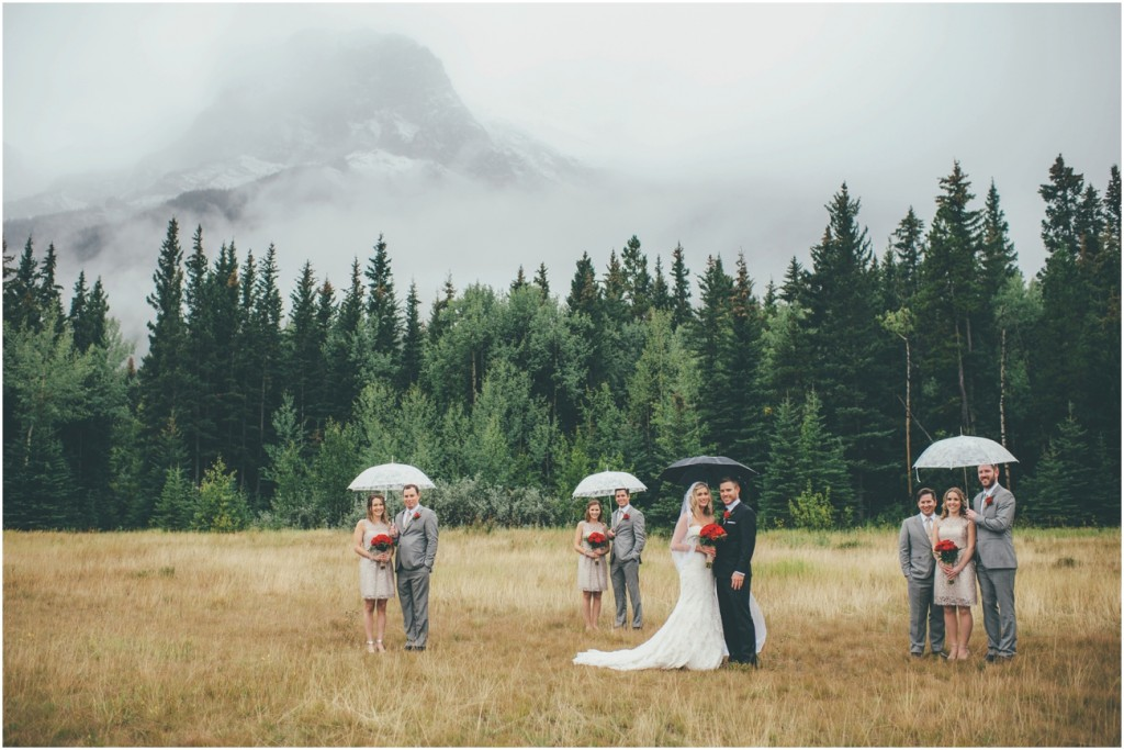 Rainy Canmore Wedding Day