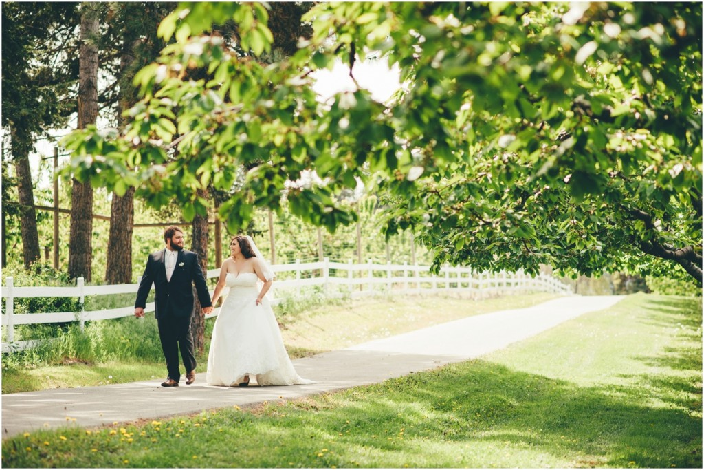 Wedding day in an Okanagan Orchard
