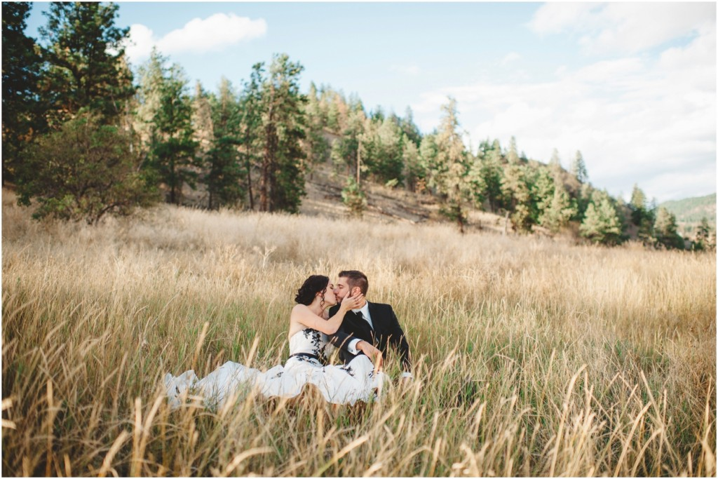 Tall grass elegant wedding photo
