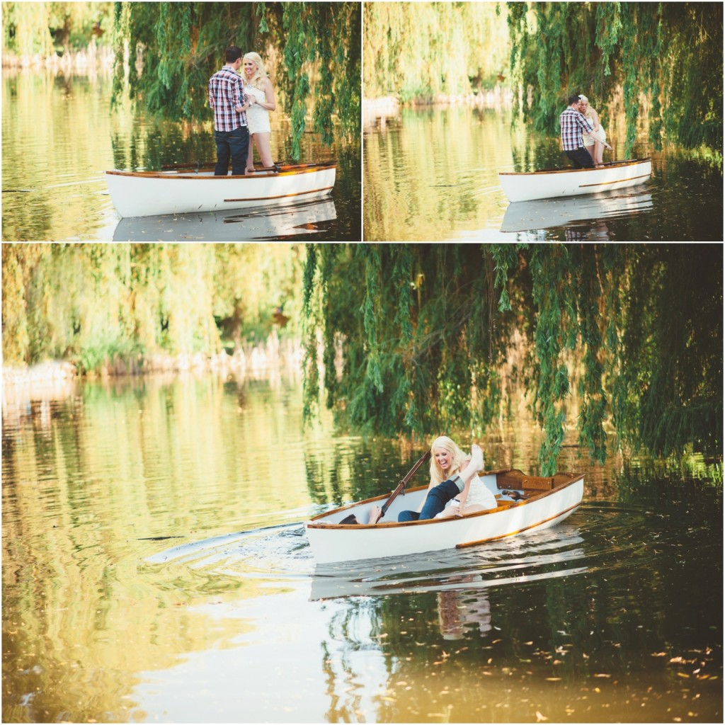 Vintage Rowboat Engagement session