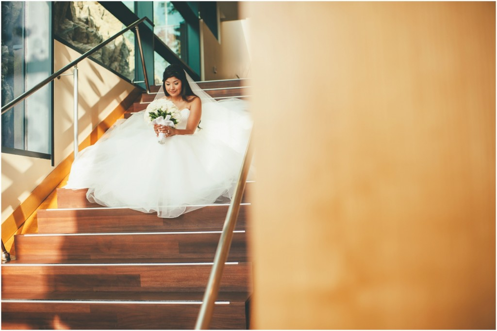 Beautiful bride at Sparkling Hill