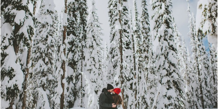 Stunning Winter Engagement at Big White Ski Resort