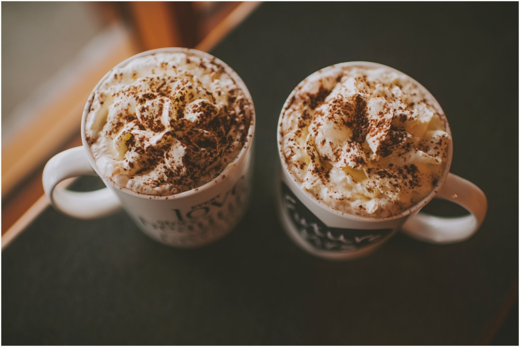 Hot Chocolate during engagement session