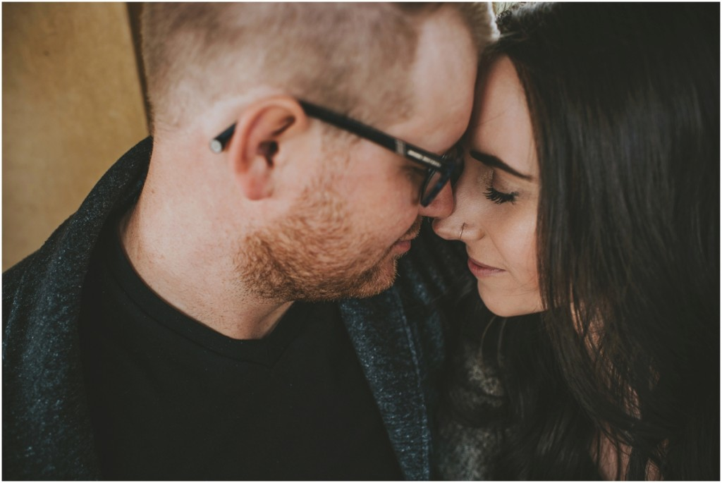 Emotion during engagement photo shoot