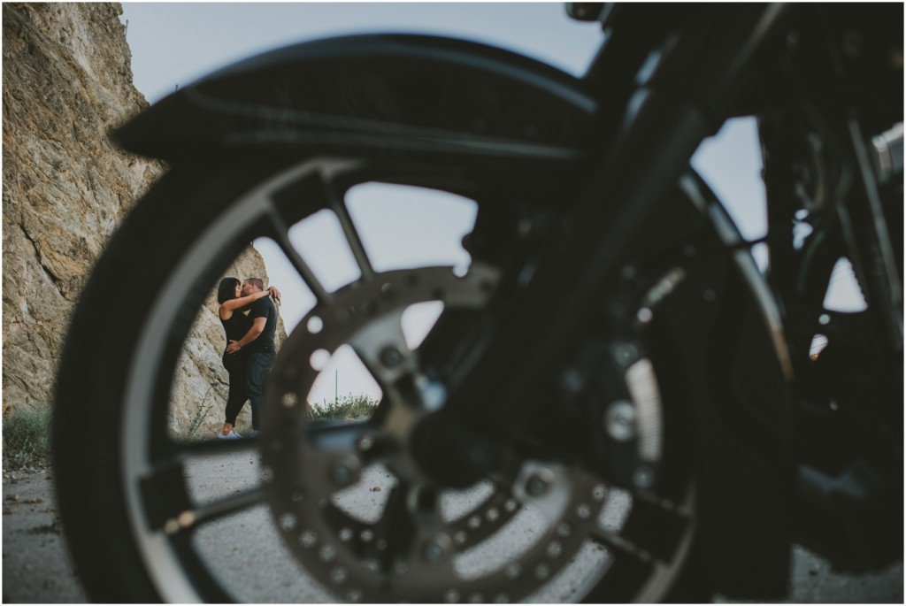 Awesome Motorcycle engagement photo