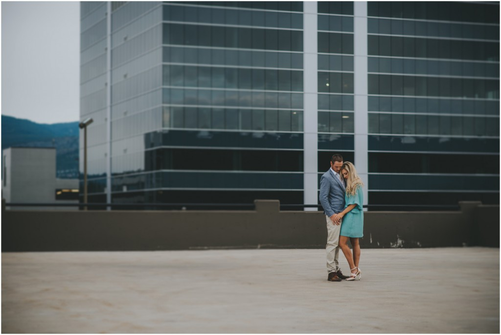 Rooftop Engagement Session in Kelowna BC