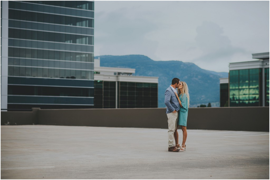 Rooftop Engagement Session in Kelowna