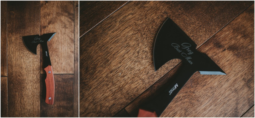 groomsmen hatchet gift idea