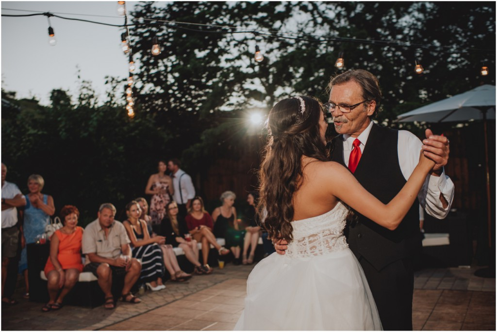 Father Daughter dance under the night sky
