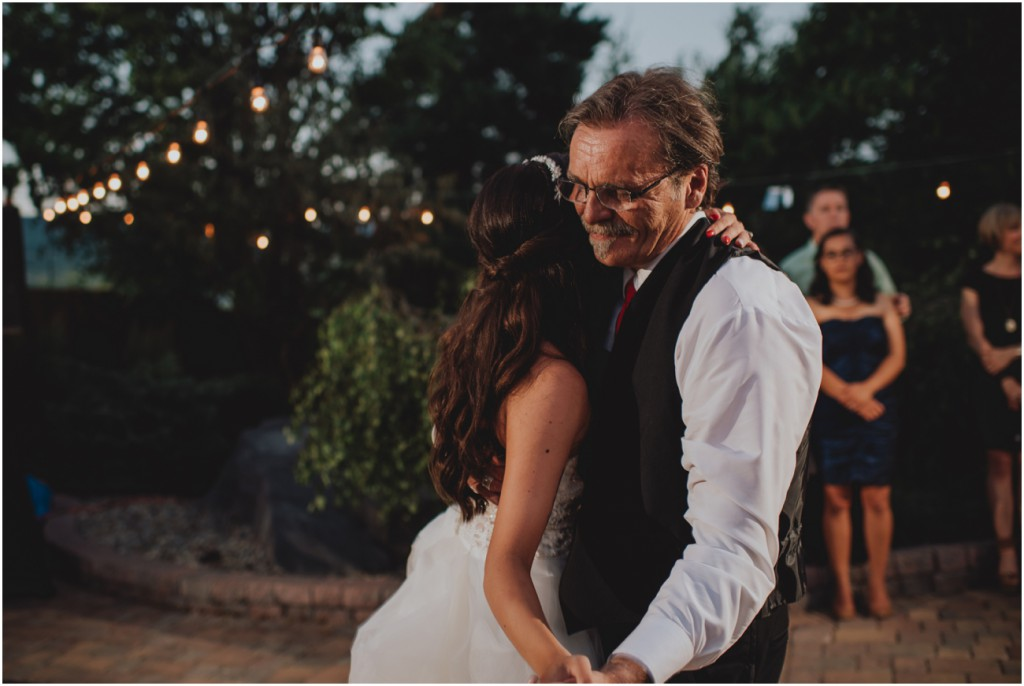 Father daughter dance at Wedding in Vernon