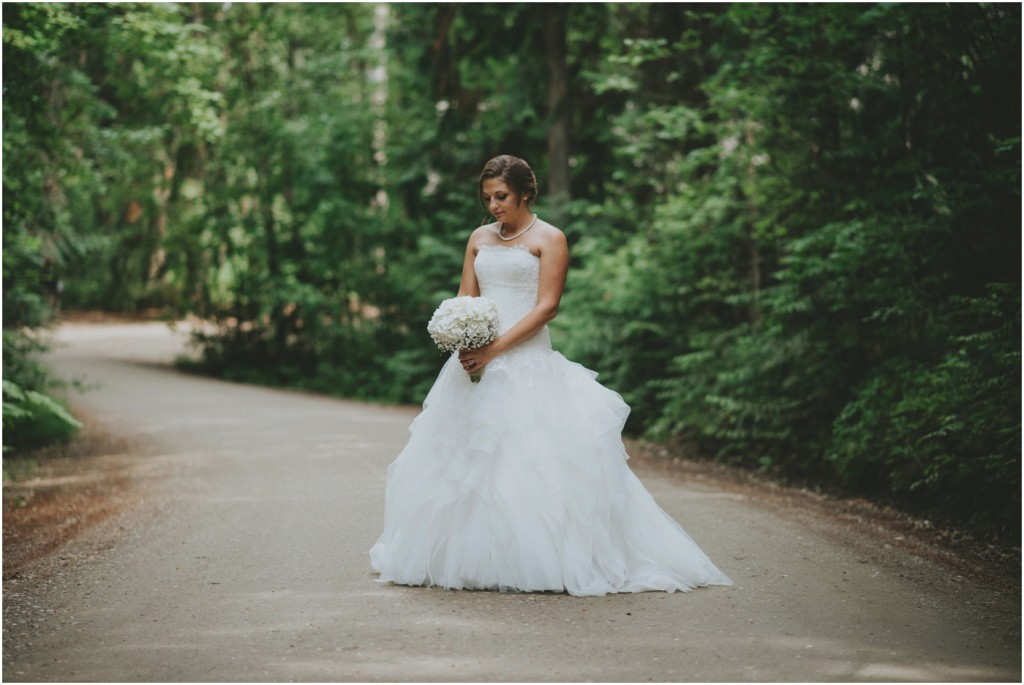 Bridal Portrait in Cedar Trees