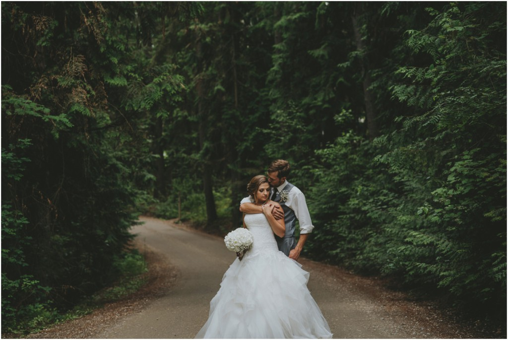 Darling Wedding Portrait in Forest