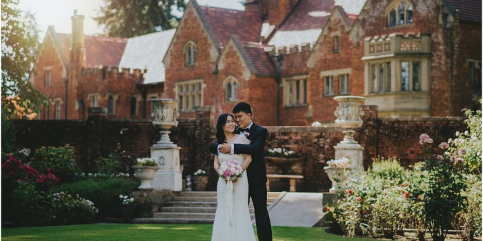 Wedding Portrait at Thornewood Castle in Seattle