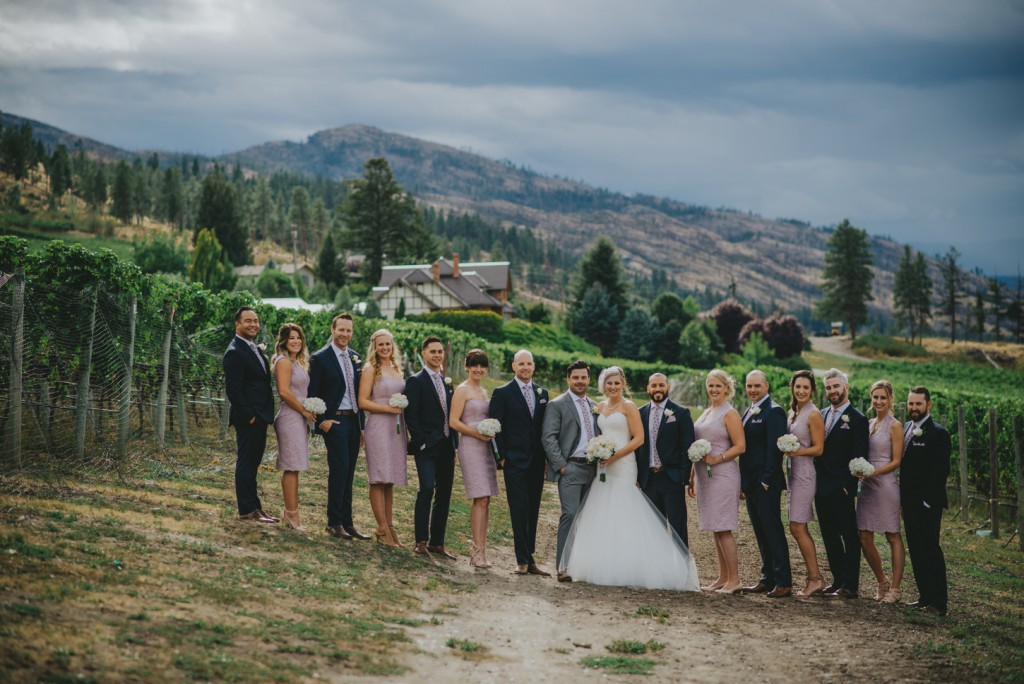 Wedding Party at Cedar Creek Winery