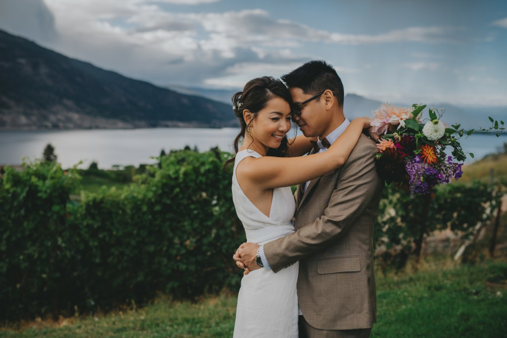 Poplar Grove wedding day overlooking Okanagan Lake