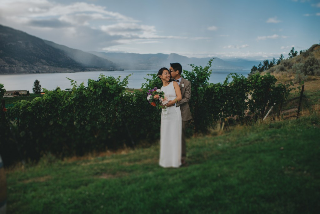 Bride and Groom at Penticton wedding