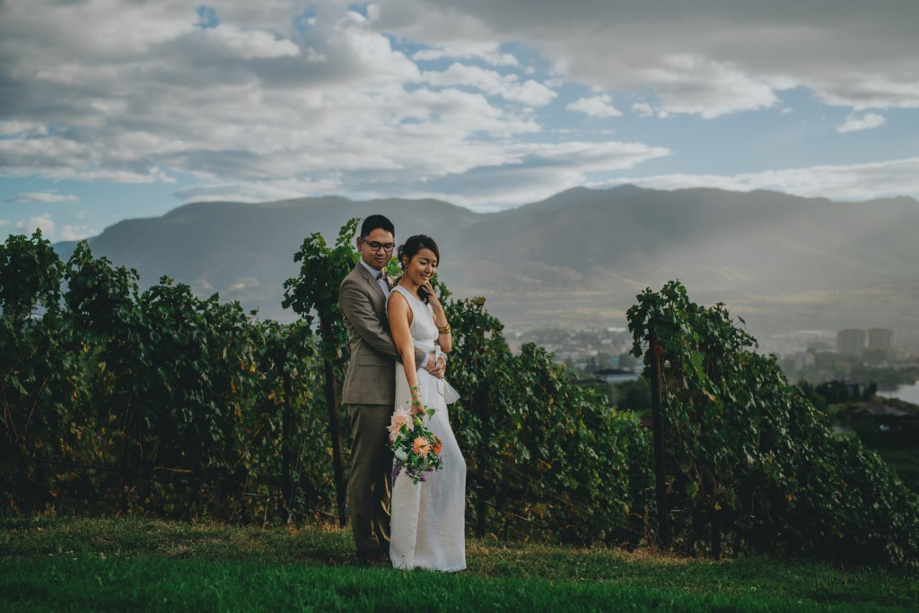 Crazy mountain landscape at Poplar Grove Wedding