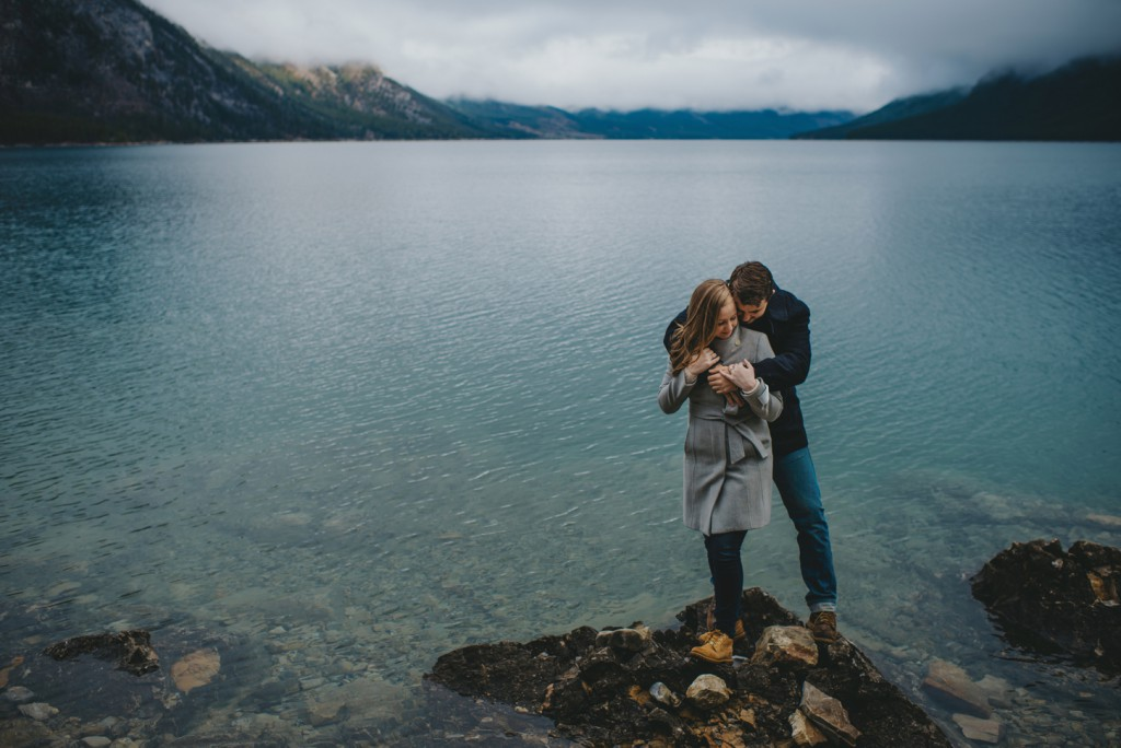 Intimate Rocky Mountain Banff Engagement