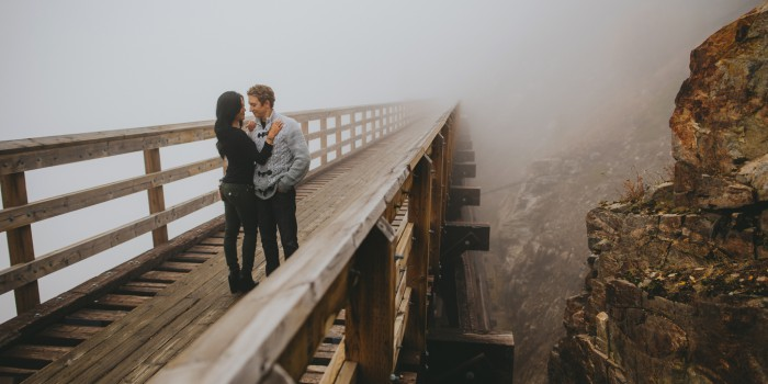 Mountain trestles engagement session