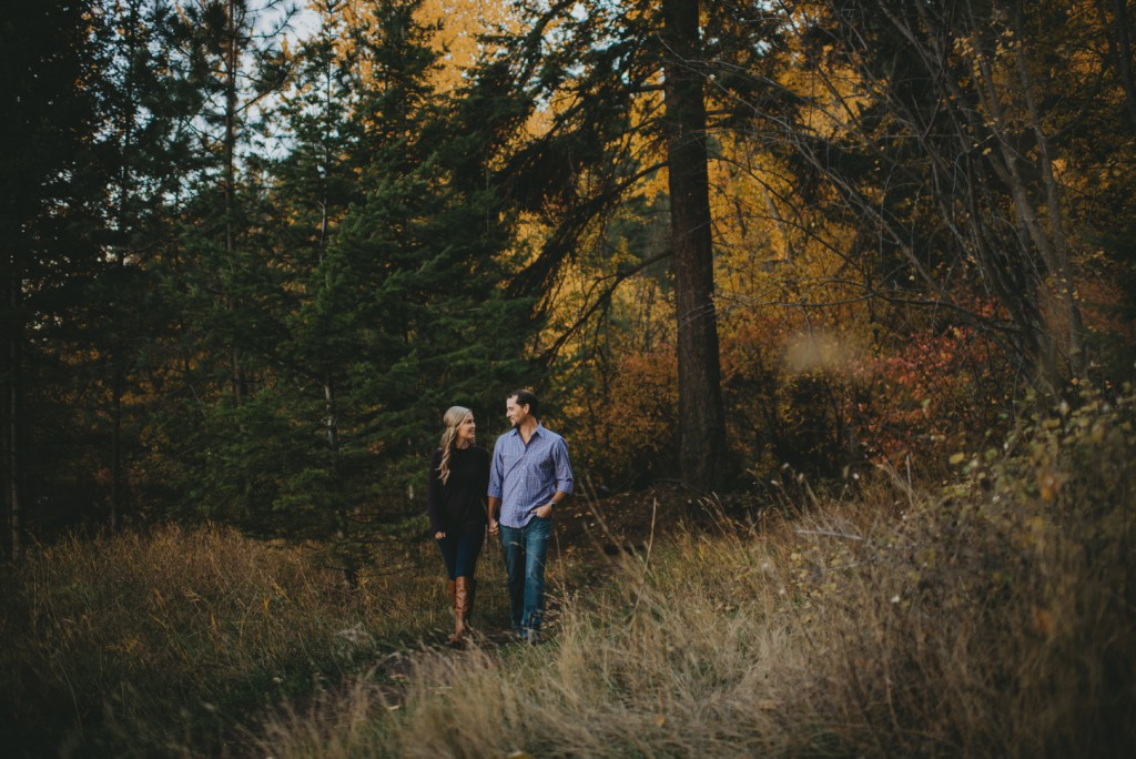Stunning fall engagement walks