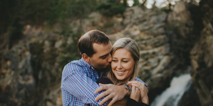 True connection during waterfall engagement in Kelowna