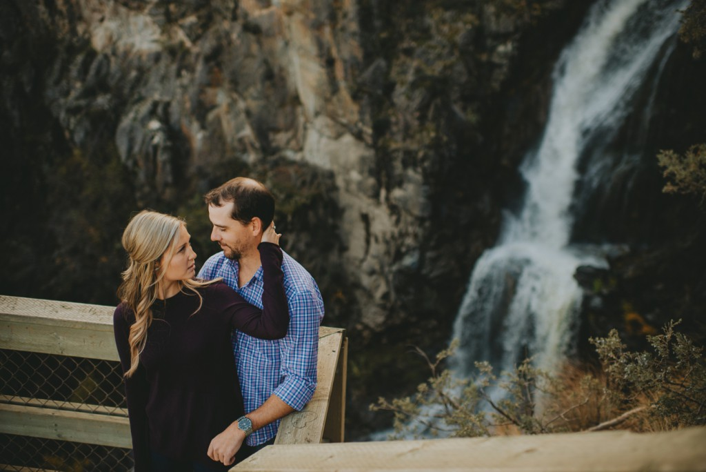 Waterfall Engagement photoshoot in Kelowna