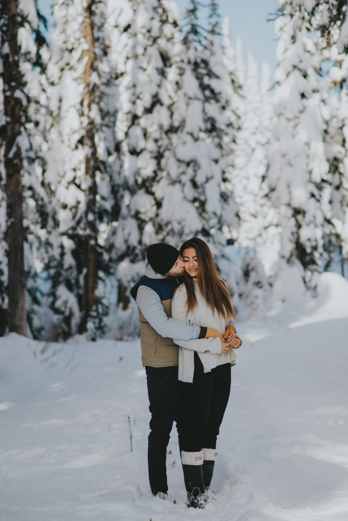 Stunning winter engagement at Big White Resort