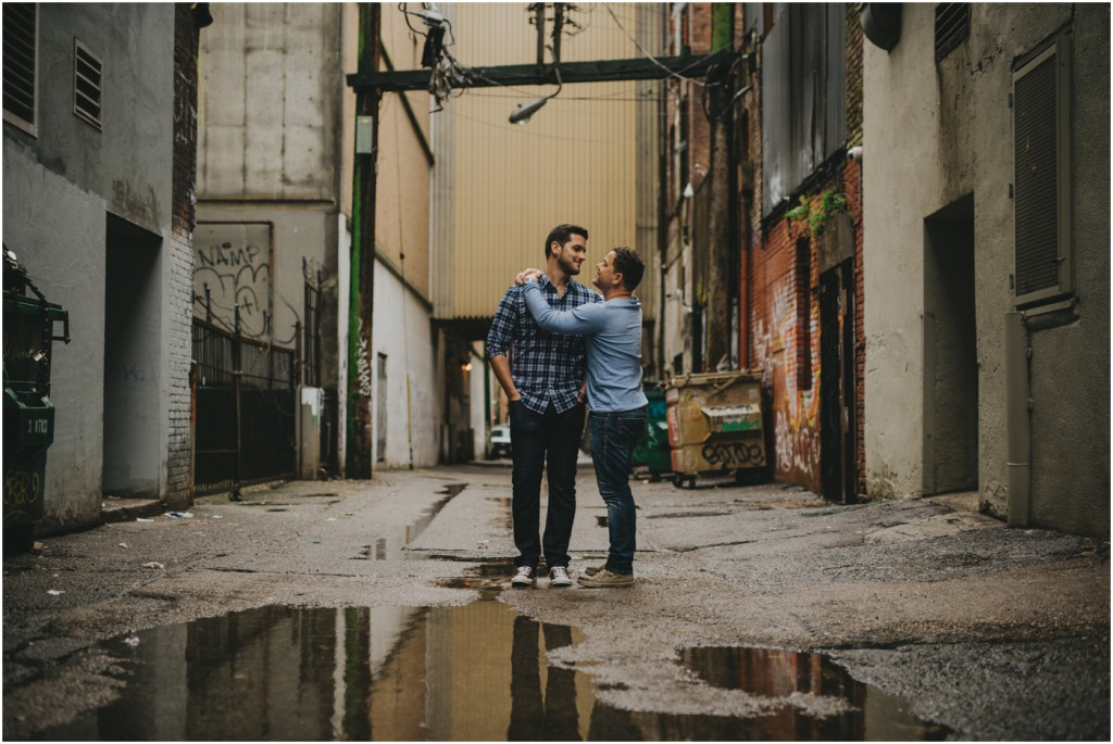 Same Sex Engagement session in Gastown