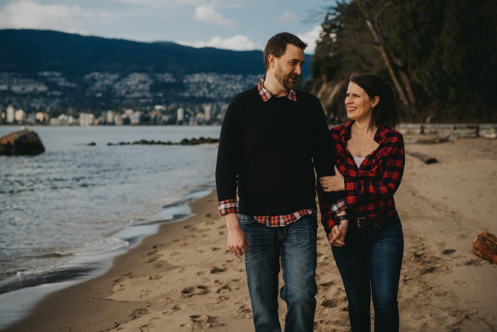 Oceanside Engagement photos in Vancouver