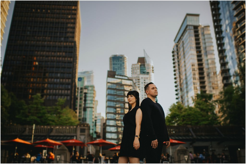 Vancouver Cityscape engagement photo