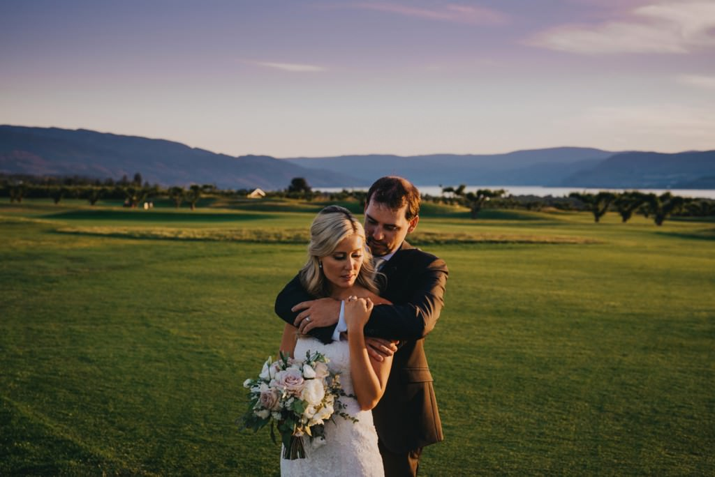 Stunning Sunset Wedding in Kelowna