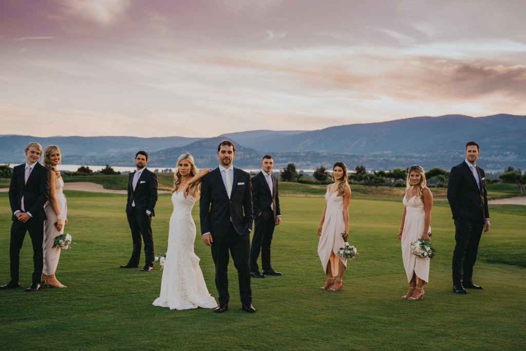 Wedding Party at The Harvest Golf Club