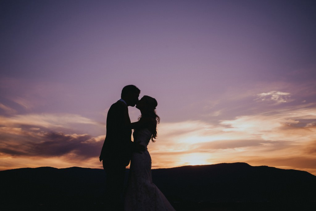 Sunset Wedding Photo at The Harvest