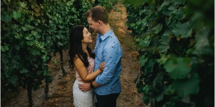 Intimate Okanagan Winery Engagement