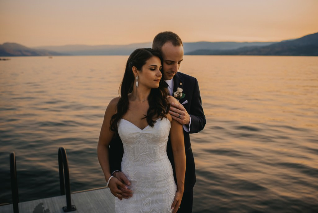 Okanagan Lake Wedding Sunset