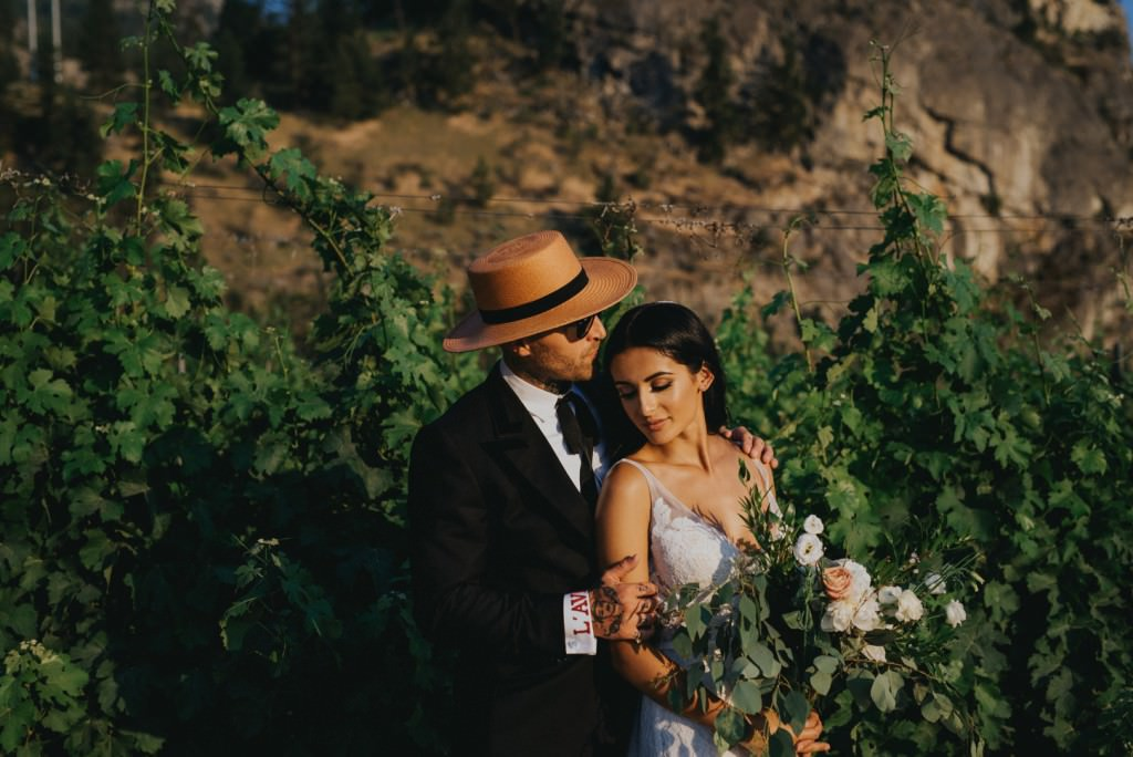 Stylish Wedding day in Penticton Winery